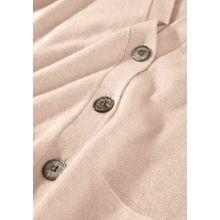 Cashmere-Cardigan mit Eingrifftaschen - Nude Melange