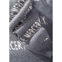 Kaschmir-Pullover mit Label-Wording