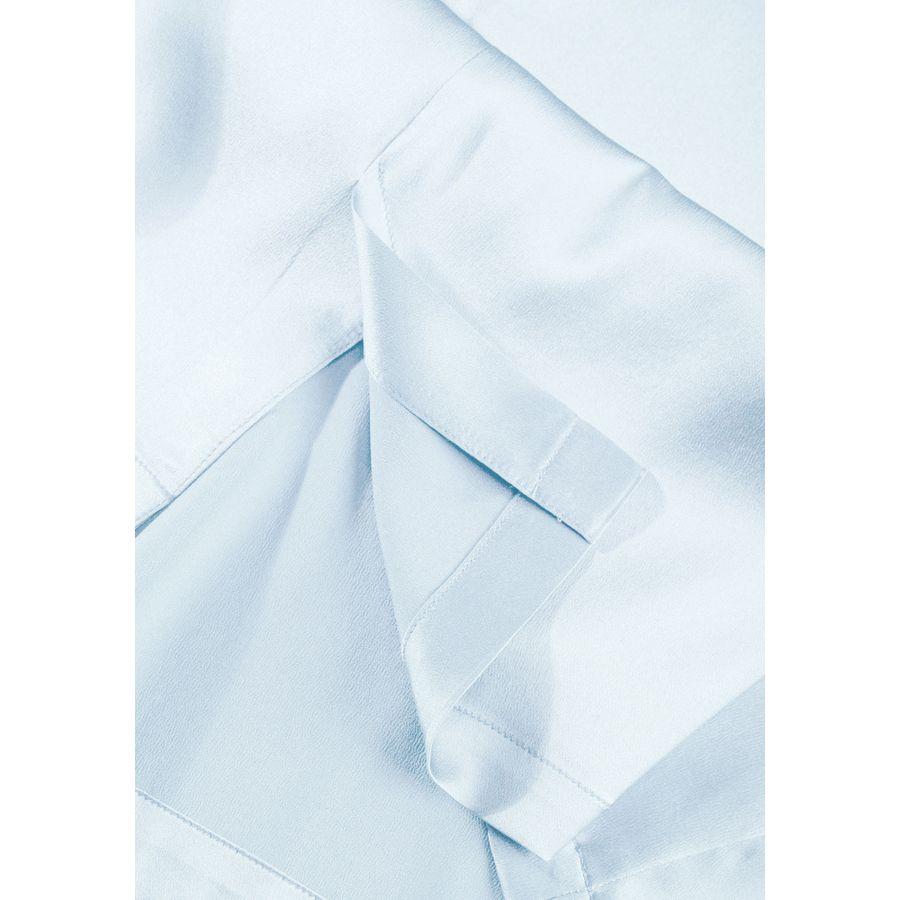 Seiden Top - Bleu