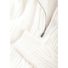 Pullover mit Zopfmuster-Details - Ivory