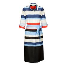 Hemdblusenkleid mit Colour-Blocking-Streifen