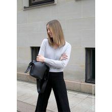Cashmere Pullover mit V-Ausschnitt - Blue