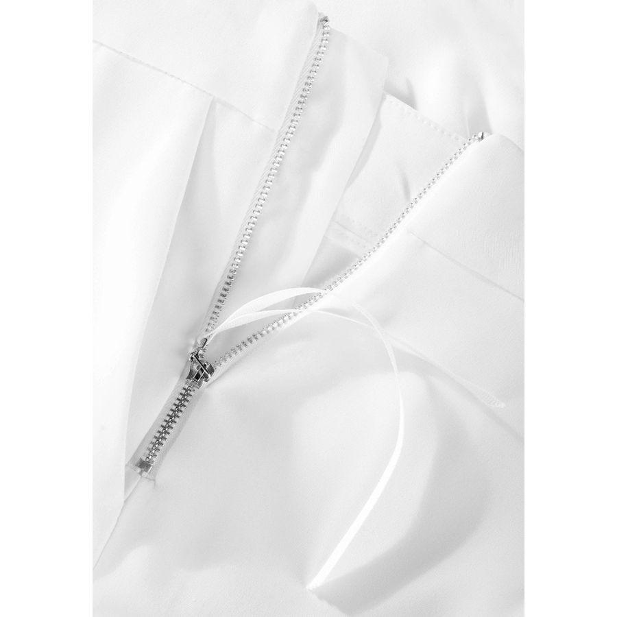Weite Hose mit Bügelfalten - Ivory