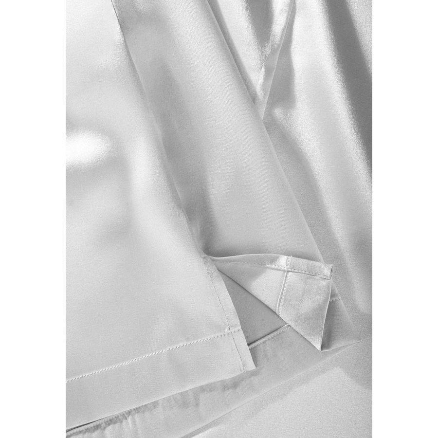 Seidentop mit puristischer Schnittführung - Silver
