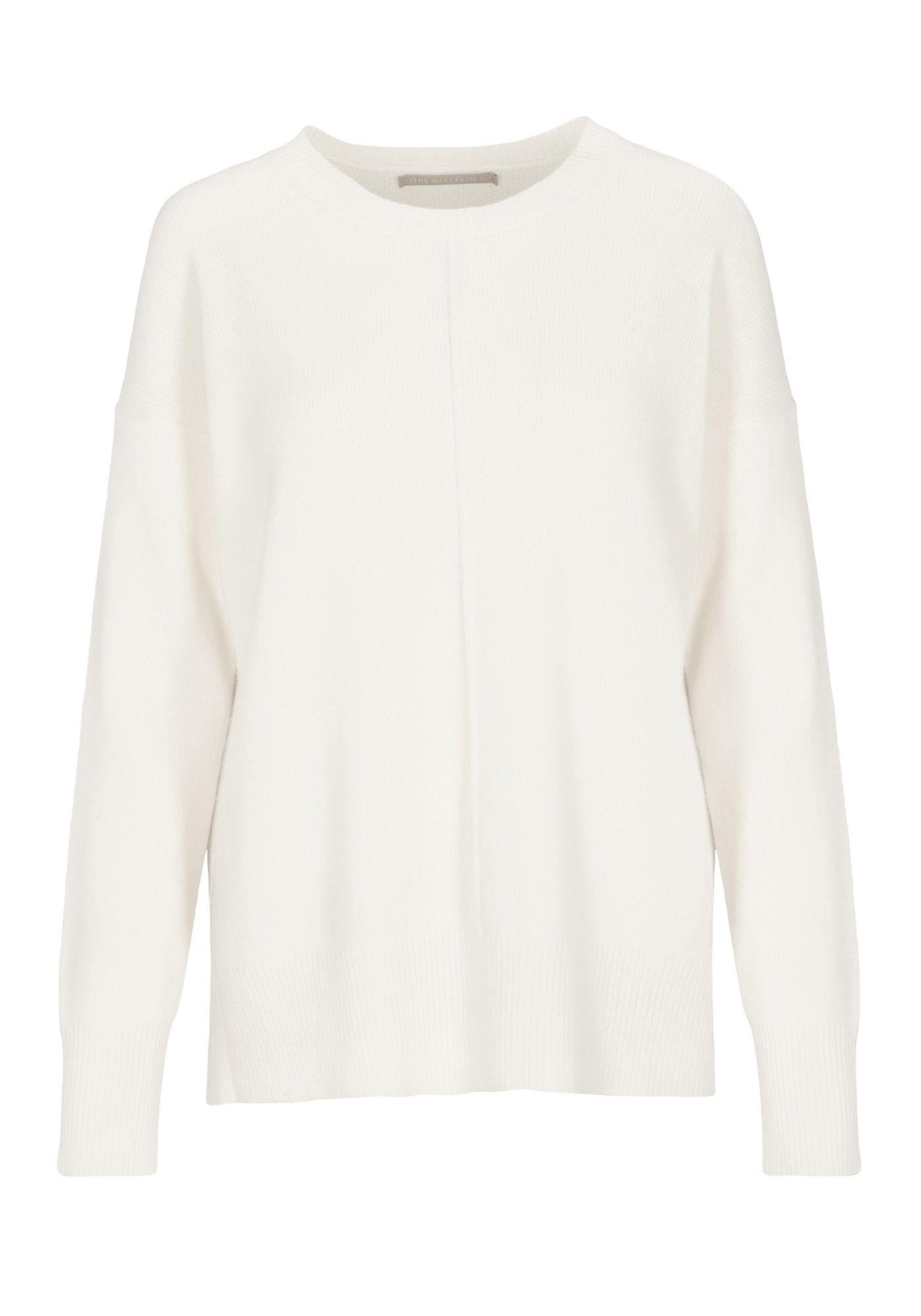 Cashmere Pullover mit Seitenschlitzen - Ivory