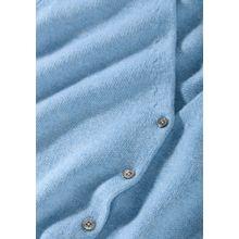Cashmere Cardigan mit aufgesetzten Taschen - Ice Melange
