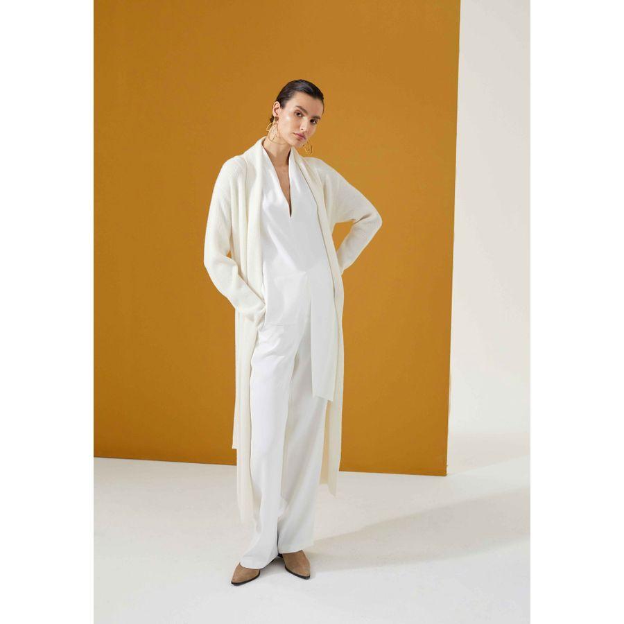 Tunika im asymmetrischen Design - Ivory