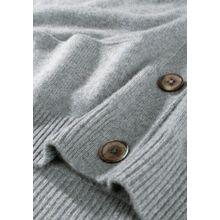Cashmere-Cardigan mit Eingrifftaschen - Flanell Melange