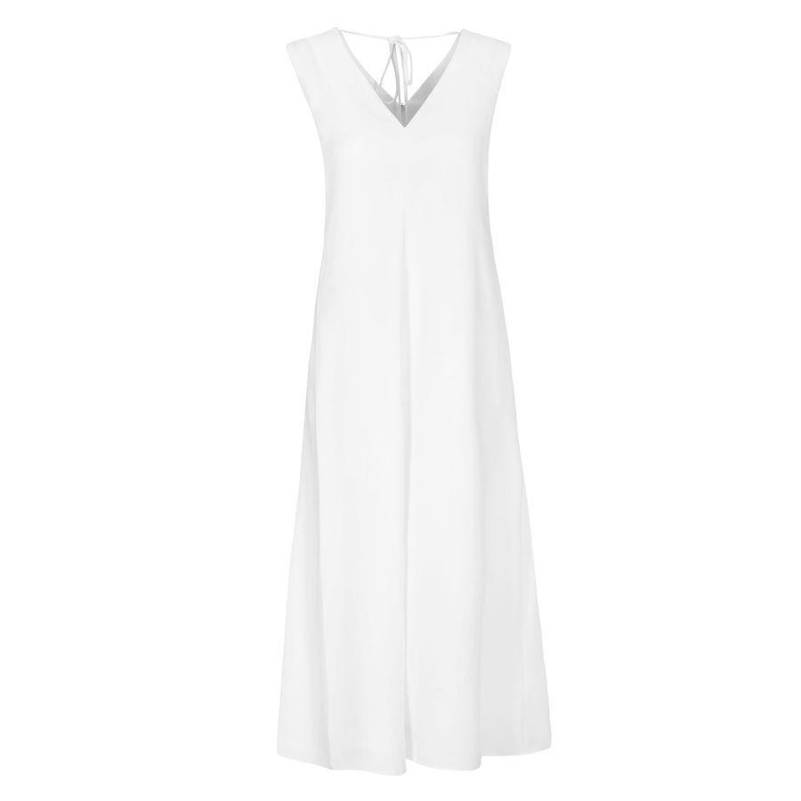 Kleid mit V-Ausschnitt - Ivory