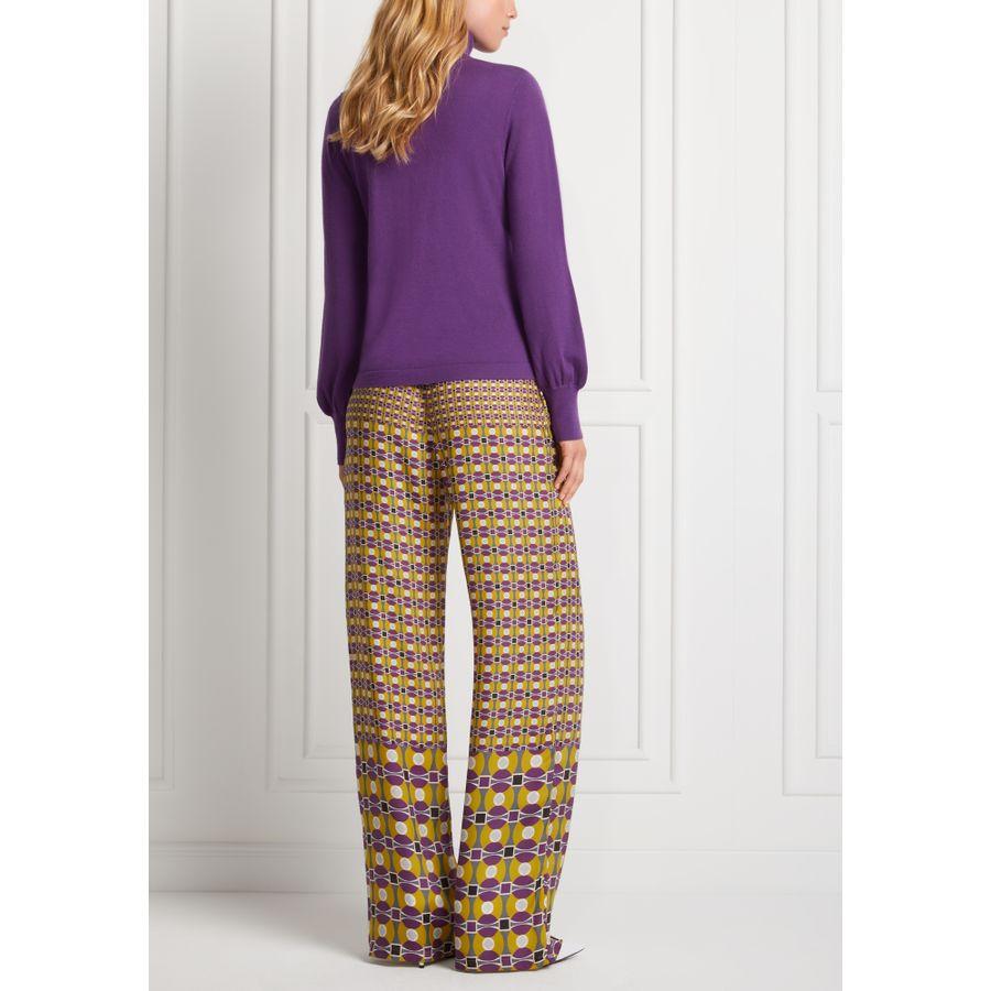 Rollkragen-Pullover mit Puff-Ärmeln
