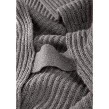 Cashmere-Pullunder mit Rigel-Detail an den Seiten - Taupe Melange