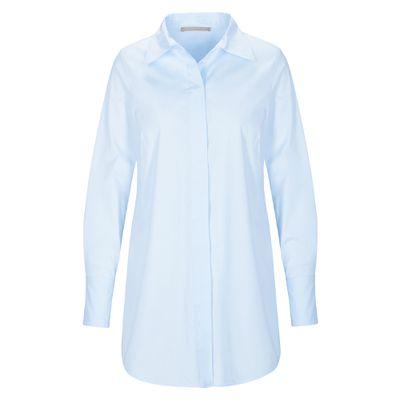 Stretch-Bluse mit abgerundetem Saum