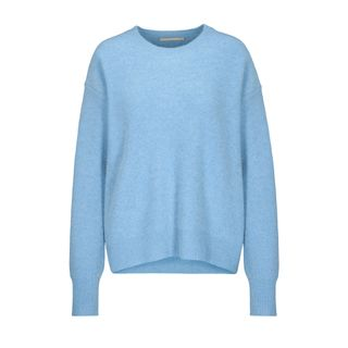 Cashmere-Pullover mit überschnittenen Schultern - Ice Melange