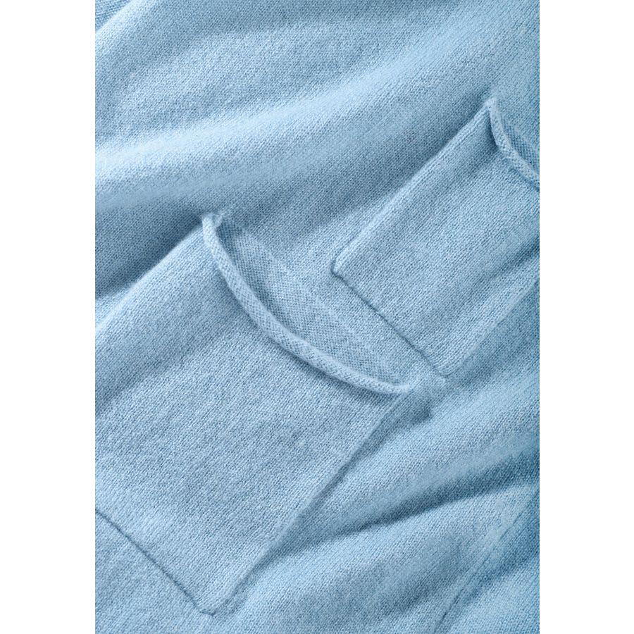 Cardigan mit Taschen - Blue