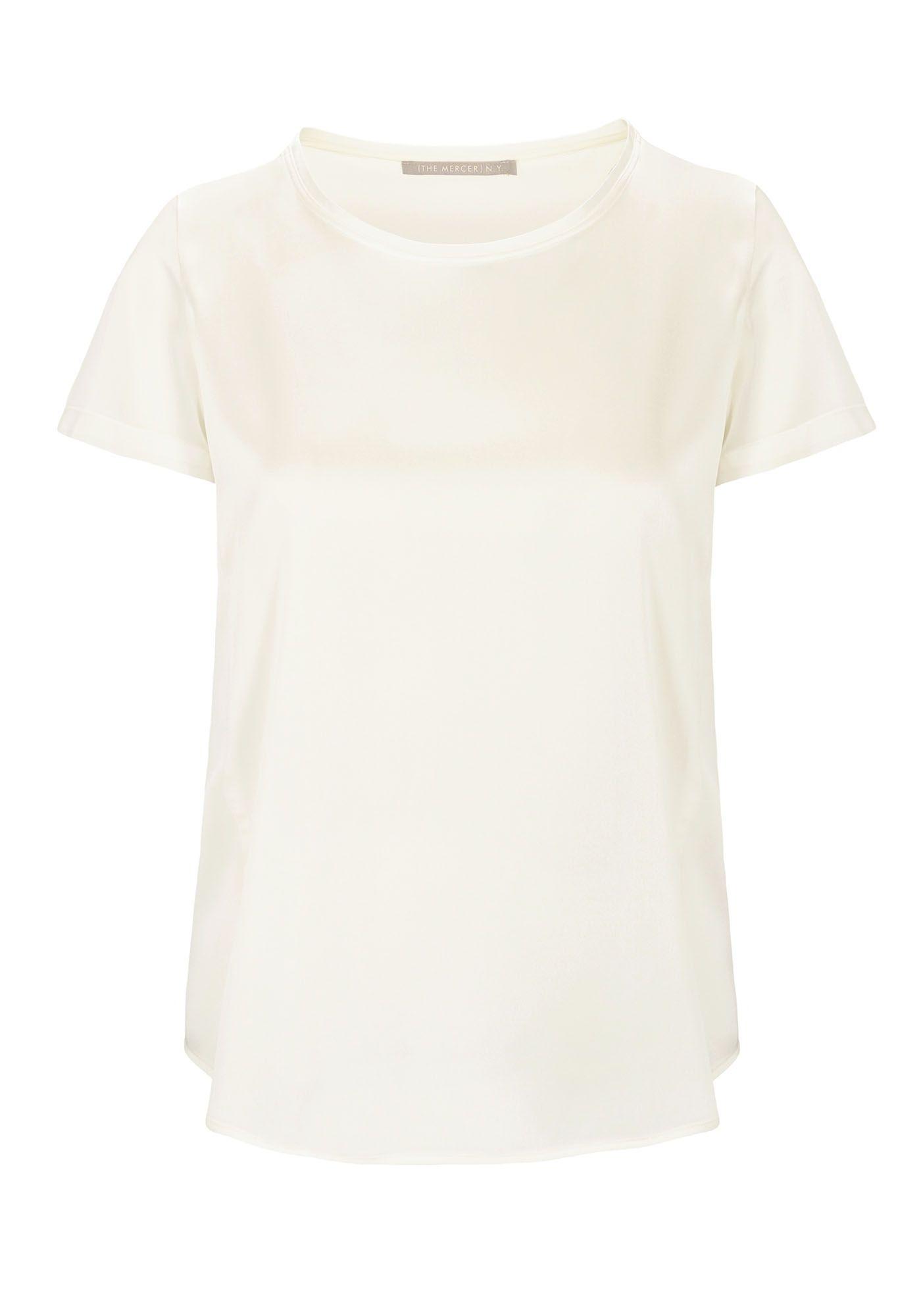 Satin Silk Shirt - Champagner