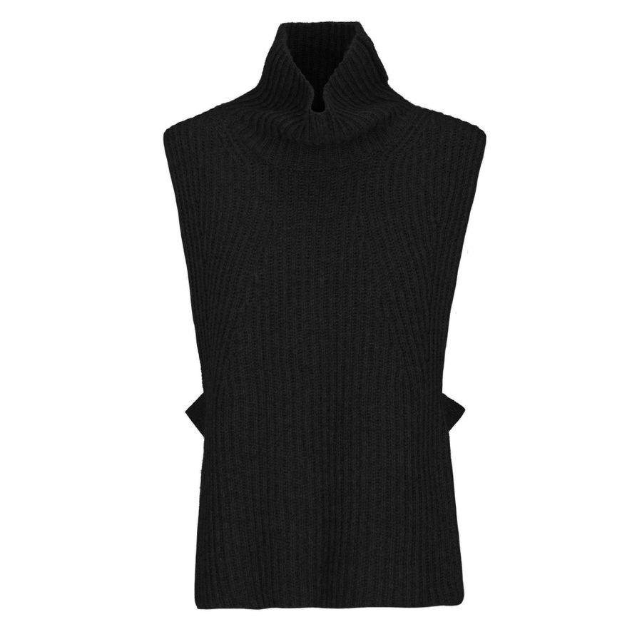 Cashmere-Pullunder mit Rigel-Detail an den Seiten - Black