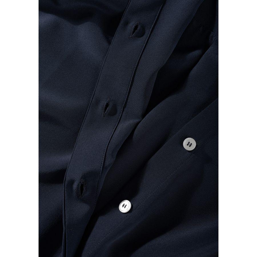 Hemdbluse mit Kellerfalte auf der Rückseite - Navy