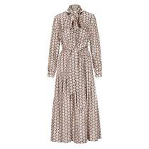 Kleid mit Print - Camel Ivory