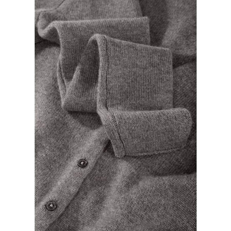 Cashmere Cardigan mit aufgesetzten Taschen - Taupe Melange