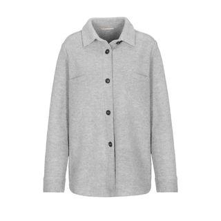 Overshirt aus Boiled Wool - Flanell Melange