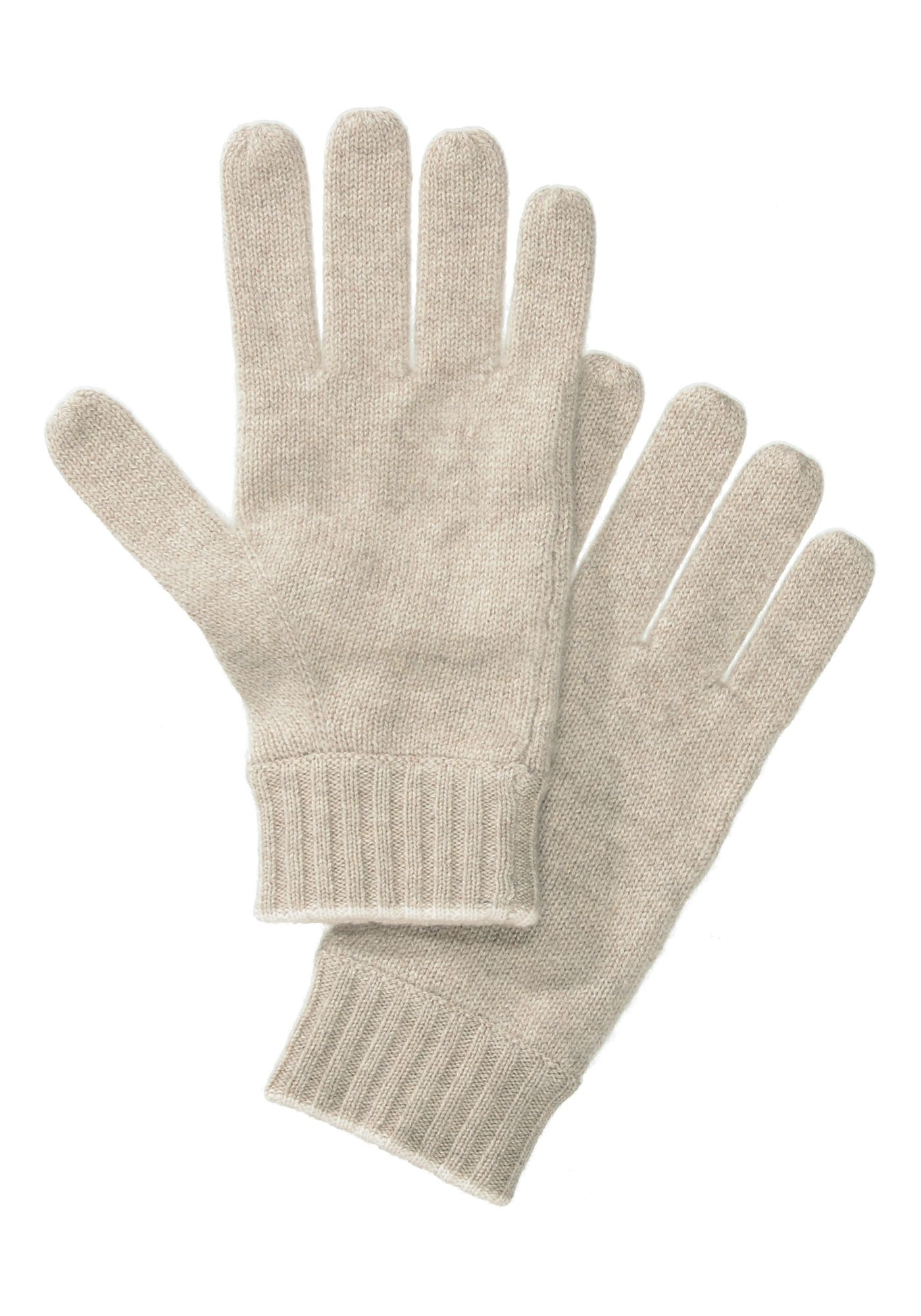 Handschuhe mit Kontrast-Saum