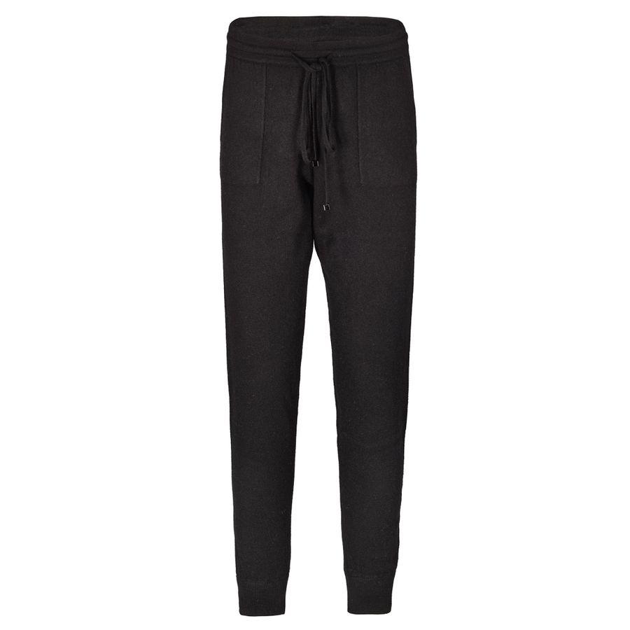 Cashmere Pants mit Tunnelzugbund - Black