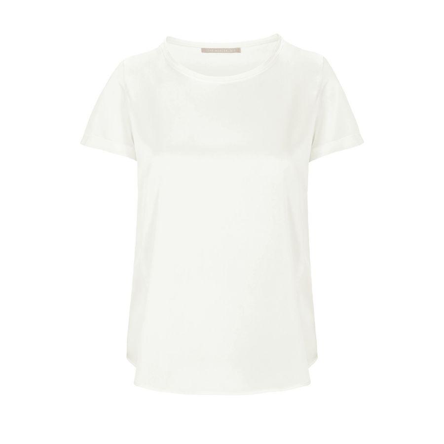 Satin Silk Shirt - Weiss