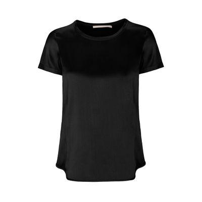 Satin Silk Shirt - Black