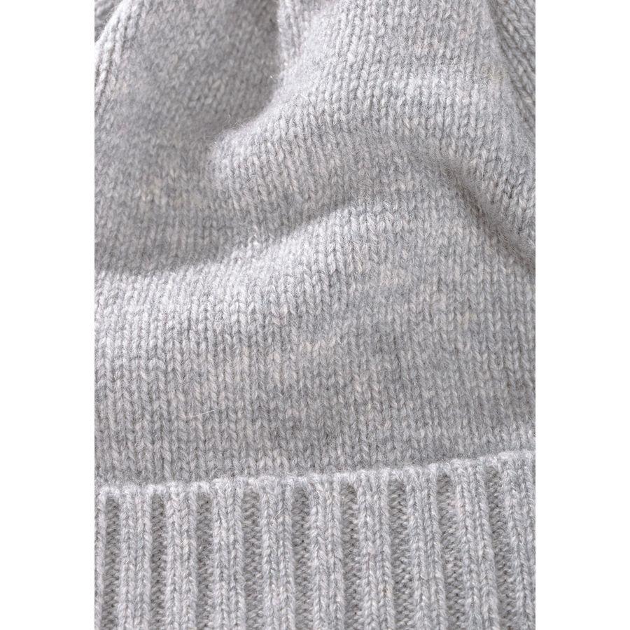 Cashmere-Mütze mit Bommel