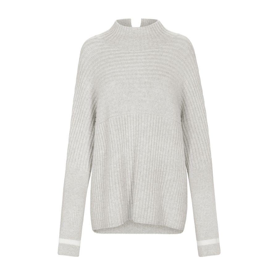Pullover mit Stehkragen - Silver