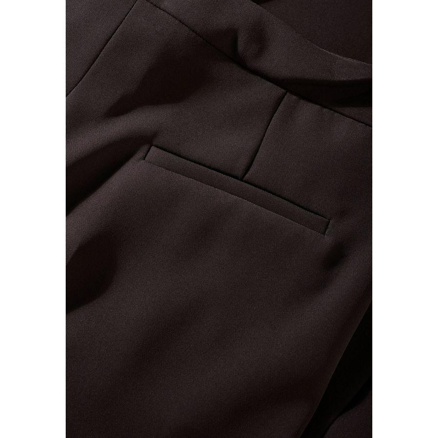 Trousers mit geradem Bein - Chocolate